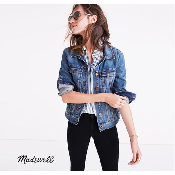 Madewell Jackets & Blazers - NEW Madewell Jean Jacket XS Blue Denim Pinter Wash